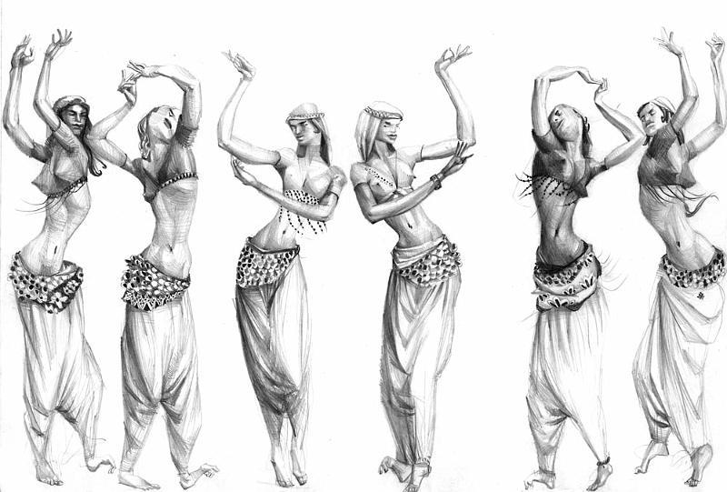 Dibujos de bailarines